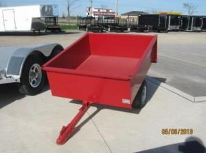 red garden cart