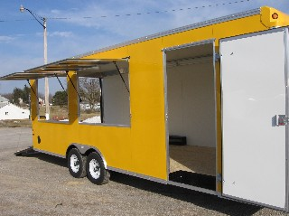 Carmate Double Vending Window Option on Yellow
